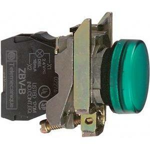 schneider schneider spia verde 230v led integrato luce fissa, xb4bvm3