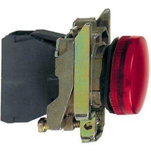 schneider schneider lampada spia rossa led integrato 230v luce fissa xb4bvm4