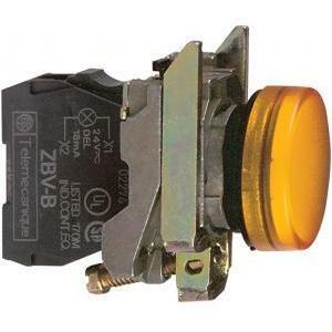 schneider schneider lampada spia gialla 230v led integrato luce fissa