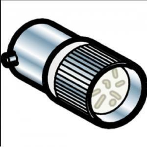 schneider schneider lampada di segnalazione e indicazione led bianca ba 9s 24vac dl1cj0241