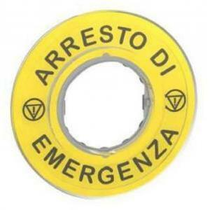 schneider schneider etichetta arresto emergenza 3d zby9620