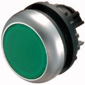 eaton eaton m22-d-g pulsante piatto  filo ghiera verde ad impulso non luminoso 216596