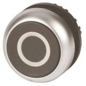 eaton eaton m22-d-s-x0 pulsante piatto filo con  ghiera color titanio non luminoso 216609