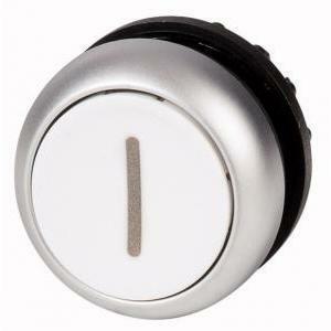 eaton eaton m22-d-w-x1 pulsante piatto non luminoso ad impulso filo ghiera titanio 216611