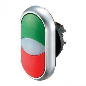 eaton eaton m22-ddl-gr pulsante doppio impulso luminoso verde e rosso 216698