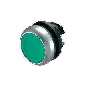 eaton eaton m22-dl-g pulsante luminoso ad impulso filo ghiera verde