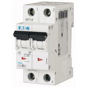 eaton eaton faz6-c16/2 interruttore magnetotermico per protezione da sovraccarico e cortocircuito 6ka 2p c 16a 239103