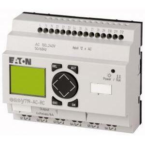 eaton eaton easy719-ac-rc plc 115/230vac 12id6q relè di controllo, relè 100-240vac, 12di, 6do display tempo espandibile 274115