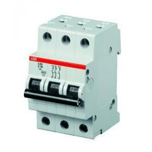 abb abb s203 c25 interruttore automatico modulare  6ka 3poli s468206