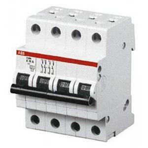 abb abb s204 c63 interruttore automatico modulare  6ka  4 poli s551113