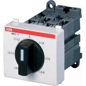 abb abb mcv-7 commutatore voltmetrico 7p moduli 3 eg 621 5