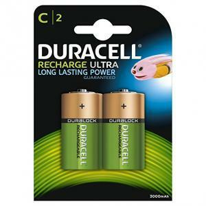 duracell duracell batterie 1/2 torcia 1,2v ricaricabile recharge ultra d rx14b2