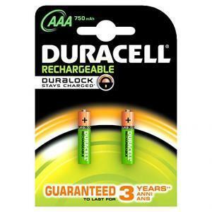 duracell duracell confezione da 2 batterie mini stilo 1,2v 750 mah ricaricabile plus hr03/valueaaa