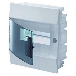 abb abb mistral41f incasso porta trasparente 8 moduli centralino da installazione 41a08x12