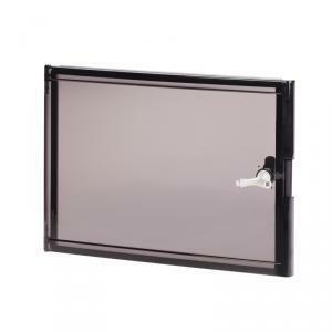 scame scame porta per armadi quadro elettrico  con vetro fume mis. 2 easybox 460x370 mm
