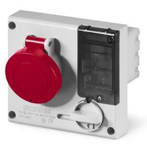 scame scame presa da incasso con dispositivo di blocco con base portafusibile omnia 3p+n 32a 6h 401.3287