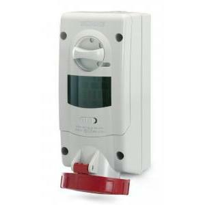 scame scame presa interbloccata advance 2 3p+n 16a 6h ip67 con dispositivo di blocco compatta con base portafusibili 563.1687