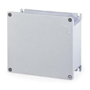 scame scame cassetta derivazione in metallo scatola a parete con coperchio alubox 192x168x80 mm 653.03