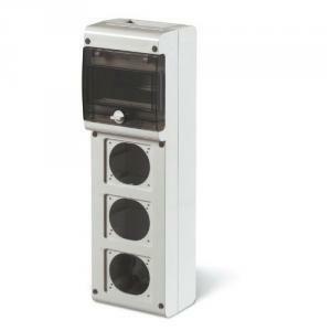 scame scame contenitore modulare quadro vuoto block3 con fori in tecnopolimero grigio 632.3500-000