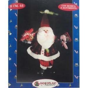 giocoplast natale giocoplast natale decorazioni natalizie pa80160a babbo natale cm.55 a fibre natale 31508757