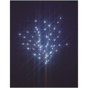 giocoplast giocoplast decorazione natalizia ramo 70 led bianchi  h130 cm con strass luci di natale 14309364