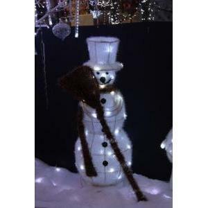 giocoplast giocoplast decorazione natalizia pupazzo neve h 60 cm diametro 28 led 40 bianchi