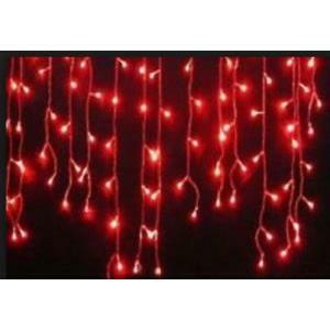 giocoplast giocoplast decorazione natalizie tenda sfalsata 80 led rossi con 16 ministrobo