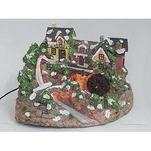 giocoplast giocoplast decorazione natalizie villaggio con mulino in movimento cm.21x20decorazione natalizia