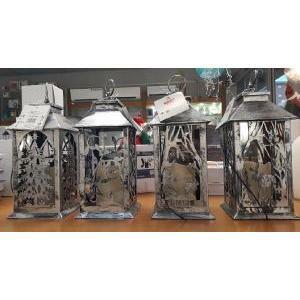 giocoplast natale giocoplast natale decorazione natalizie lanterna a led funziona a batteria 3xaaa 1,5villuminazione natalizia