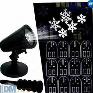 giocoplast giocoplast decorazione natalizie proiettore led ad uso esterno-interno 12 immagini intercambiabili con trasformatore 86017021proiettore led