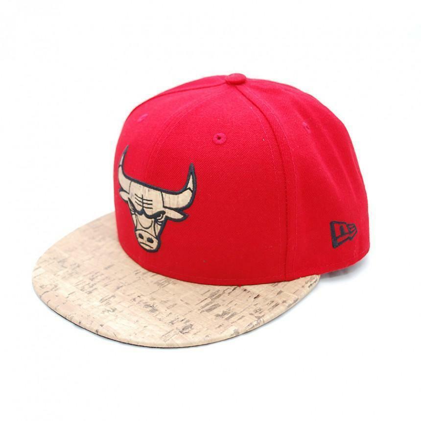 new era new era cappello visiera chicago bull rosso beige