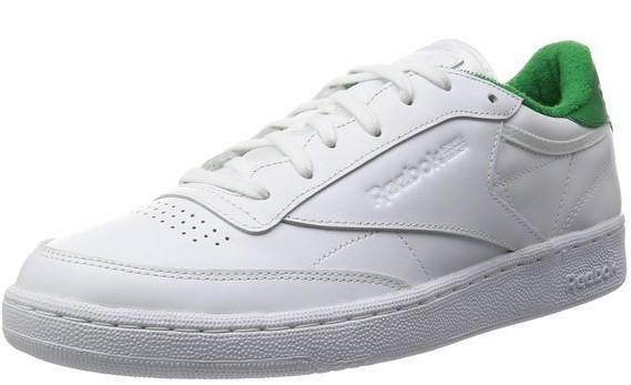 reebok reebok club c 85 el scarpe sportive uomo pelle bianche verdi v69645