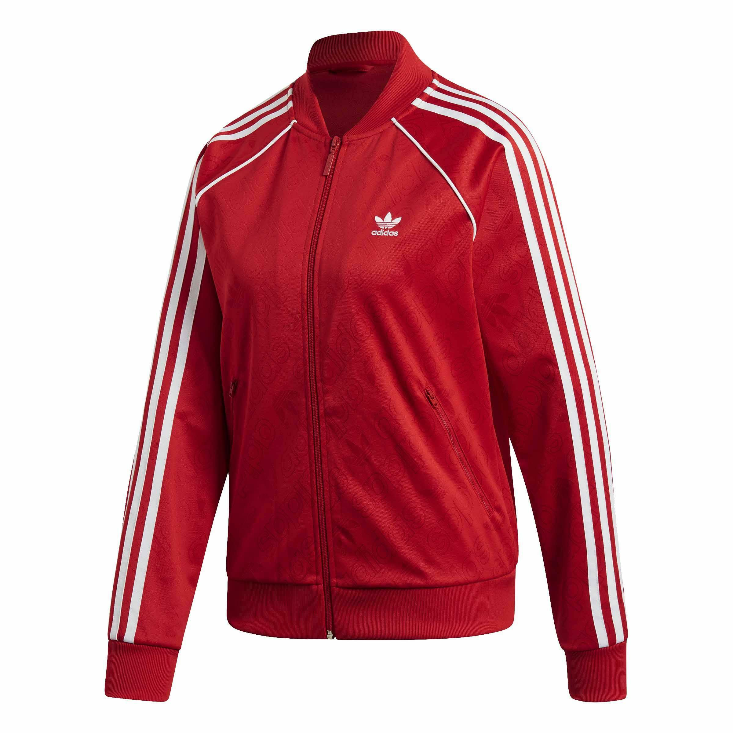 veste adidas femmes rouge