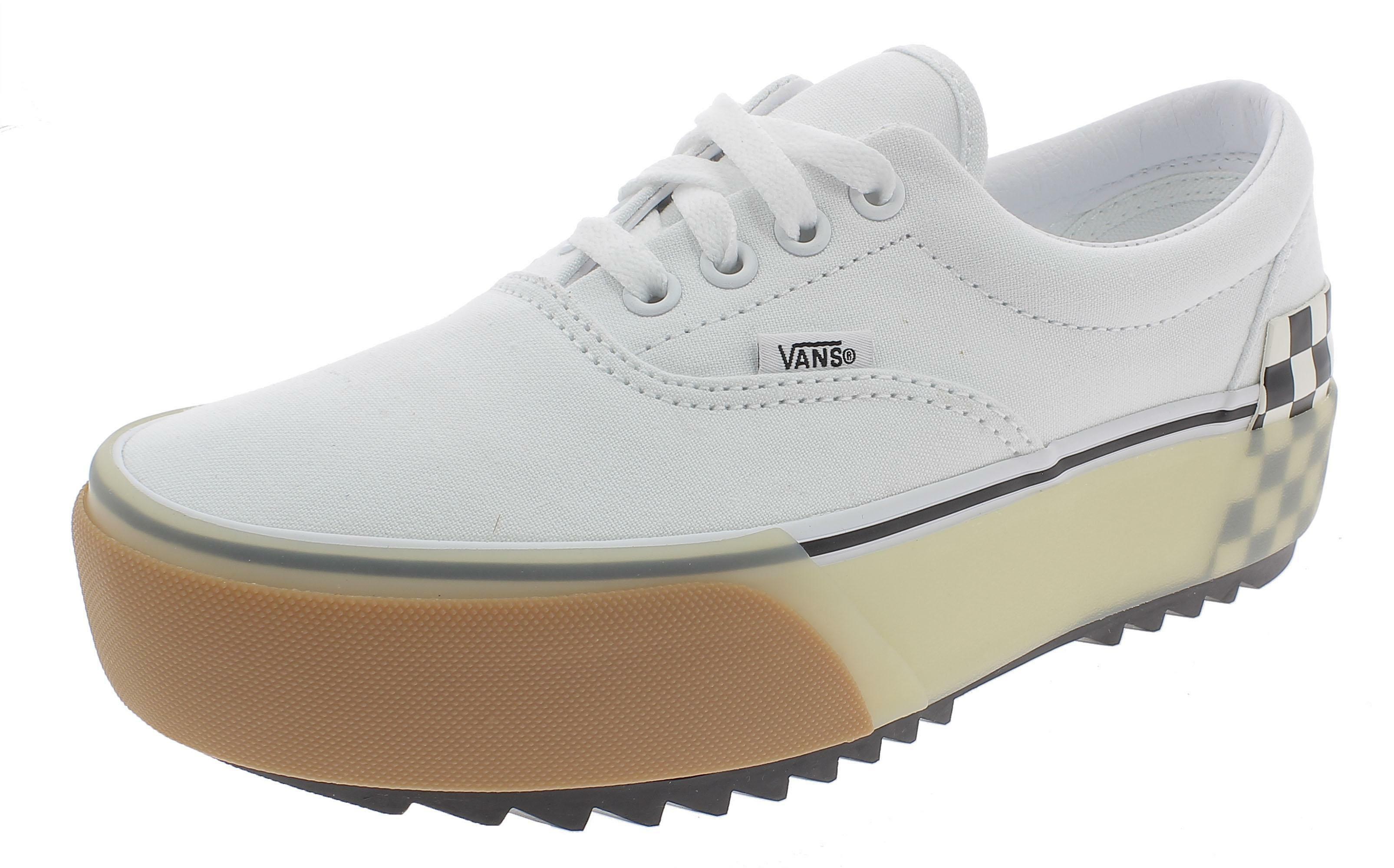 Vans era stacked platform scarpe sportive donna bianche vn0a4btotdc1