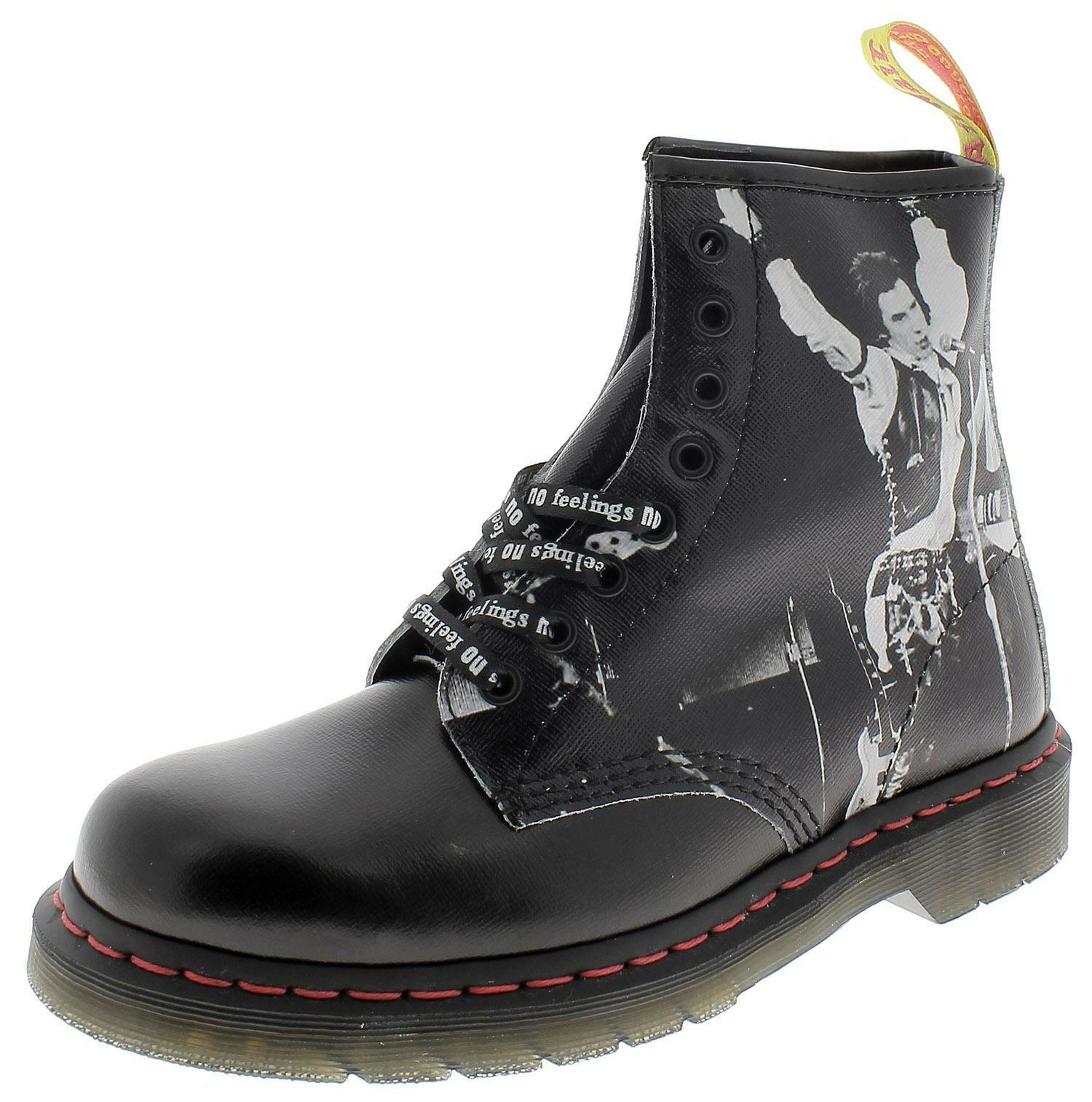 official photos fbe27 7b5b0 Dr. martens 1460 sex pistols scarponcini donna neri 24789001