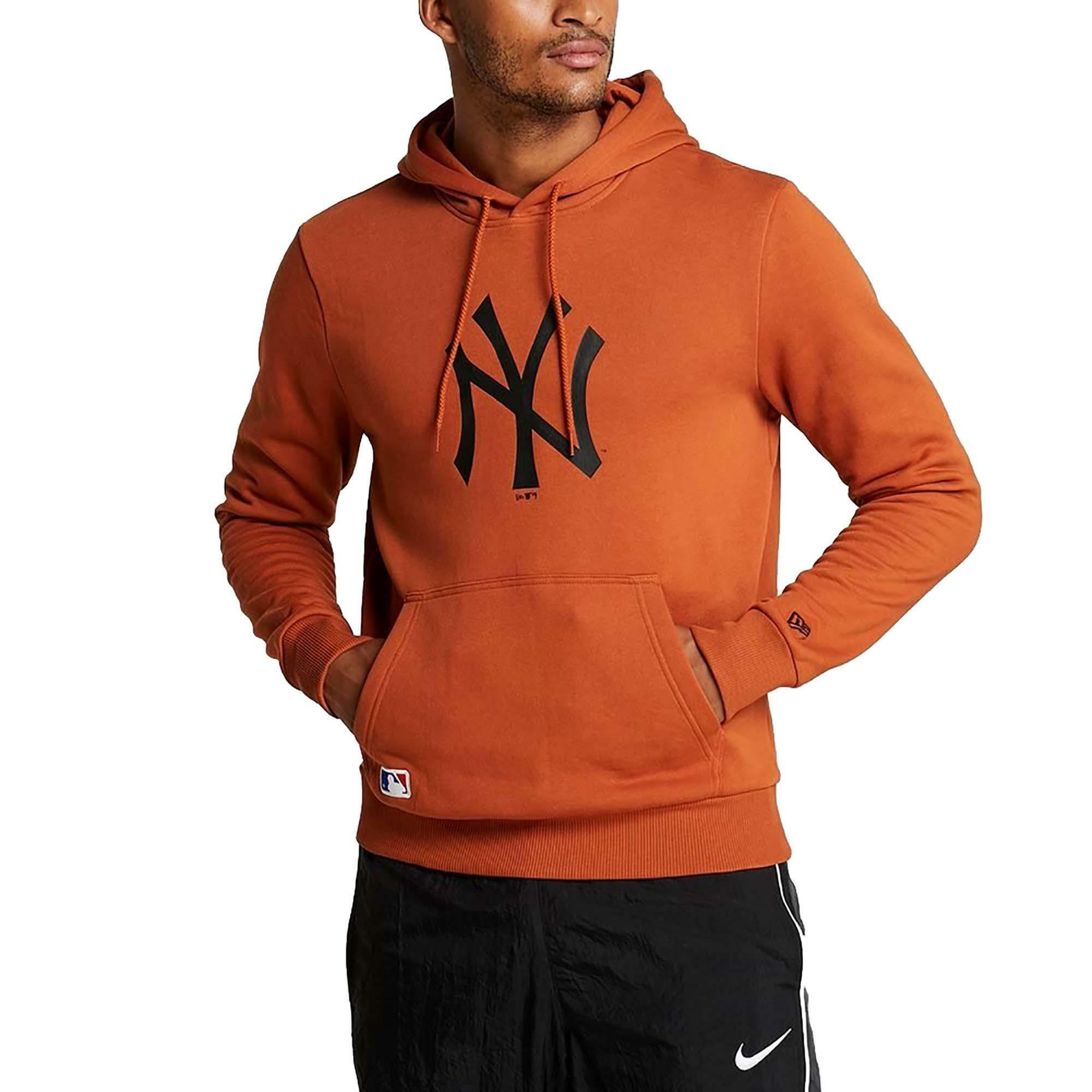 wholesale dealer 03d3a a660b New era mlb ny yankees team logo felpa con cappuccio uomo arancione 12033506