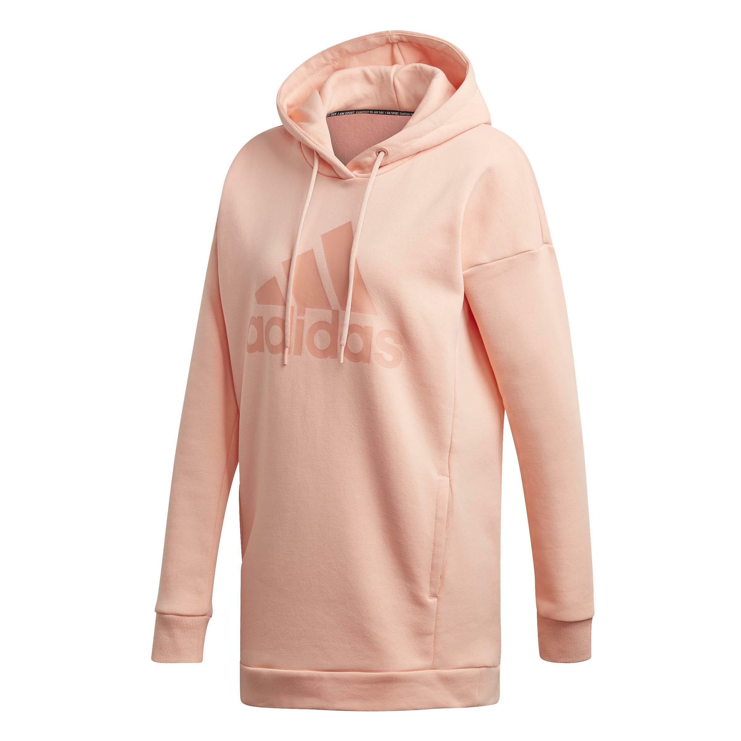 adidas must have bos hd felpa donna rosa dx7964