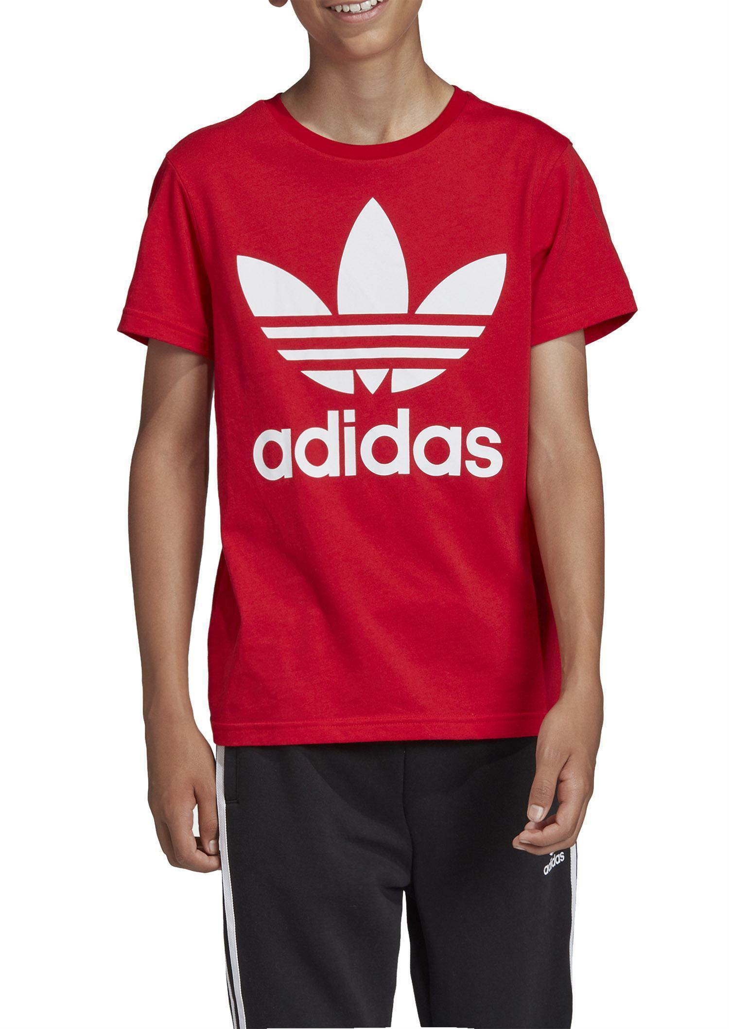 adidas adidas trefoil tee t-shirt bambino rossa ed7795