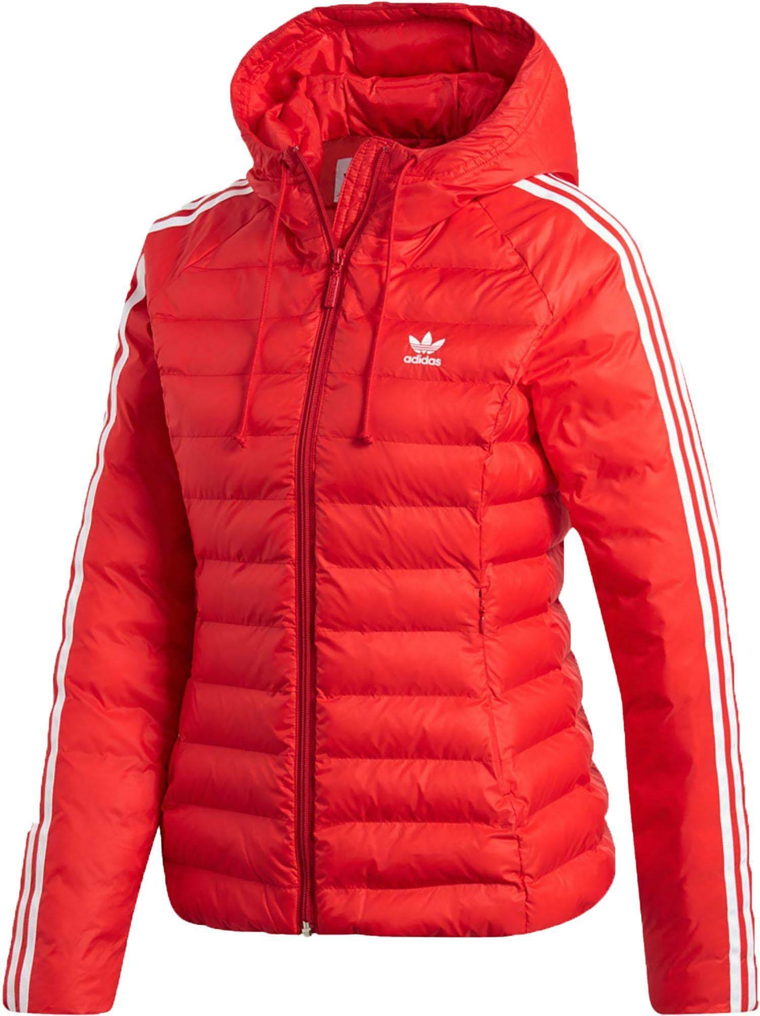 reputable site 896b2 53716 Adidas slim jacket giubbotto donna rosso ed4785