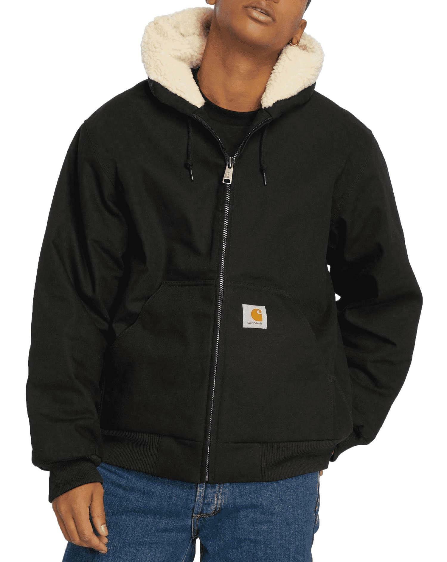 los angeles ec0c9 8adea Carhartt active pile jacket giubbotto uomo nero io24930blk