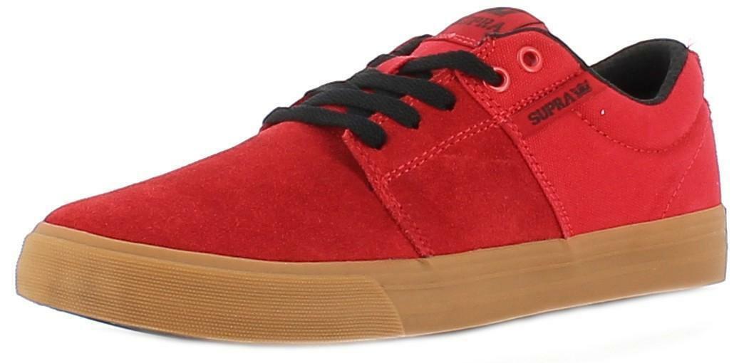 buy online 7abda 687fe Supra scarpe sportive uomo rosse stacks vulc ii