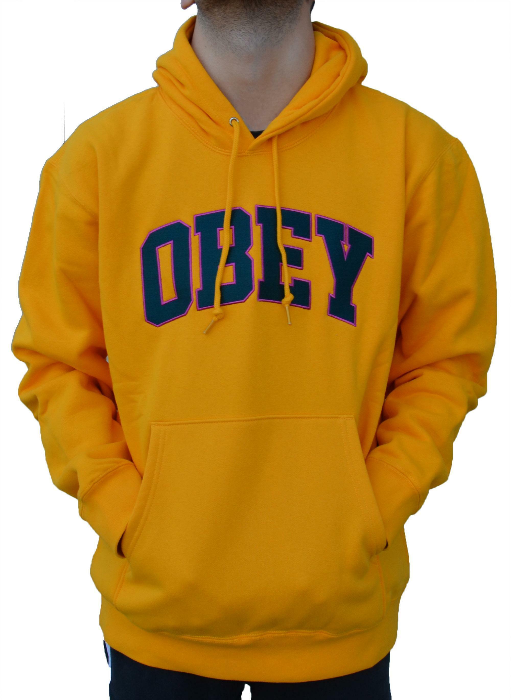 rivenditore di vendita a24f6 01e5c Obey sports felpa con cappuccio uomo gialla 224190066gold