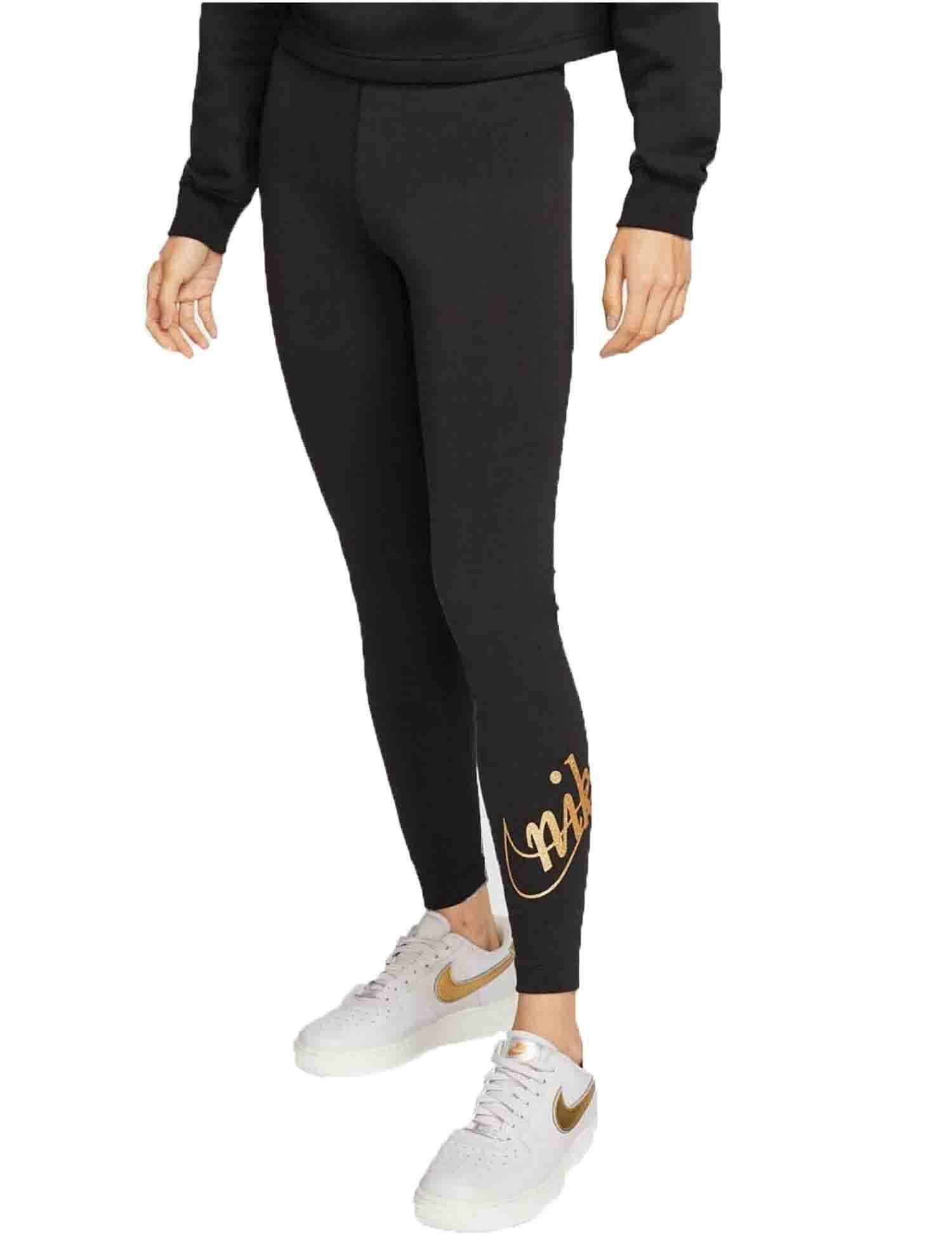 leggings nike donna nero cotone