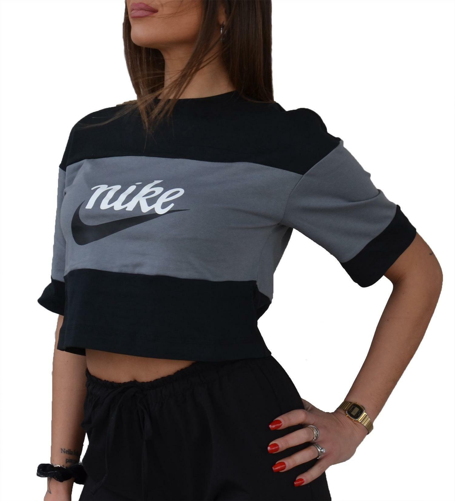 t shirt donna nera nike