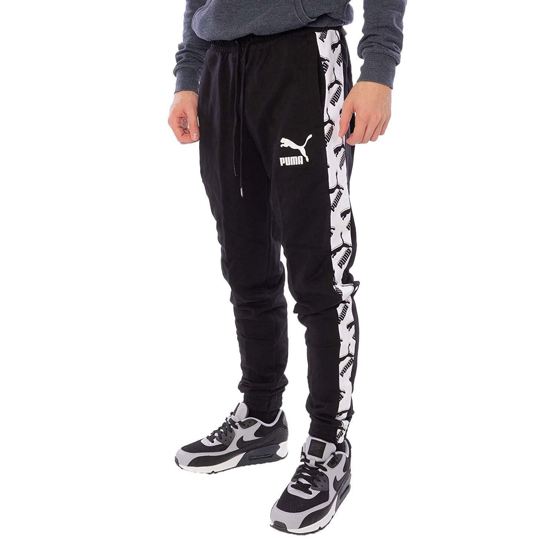Puma aop t7 track pantaloni tuta uomo neri 59628401