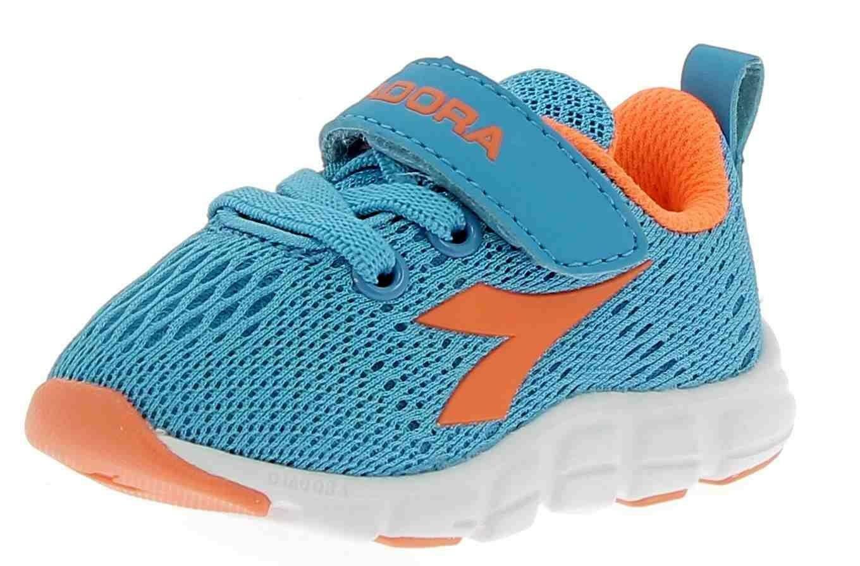 diadora diadora trama i scarpe sportive bambino azzurre strappo