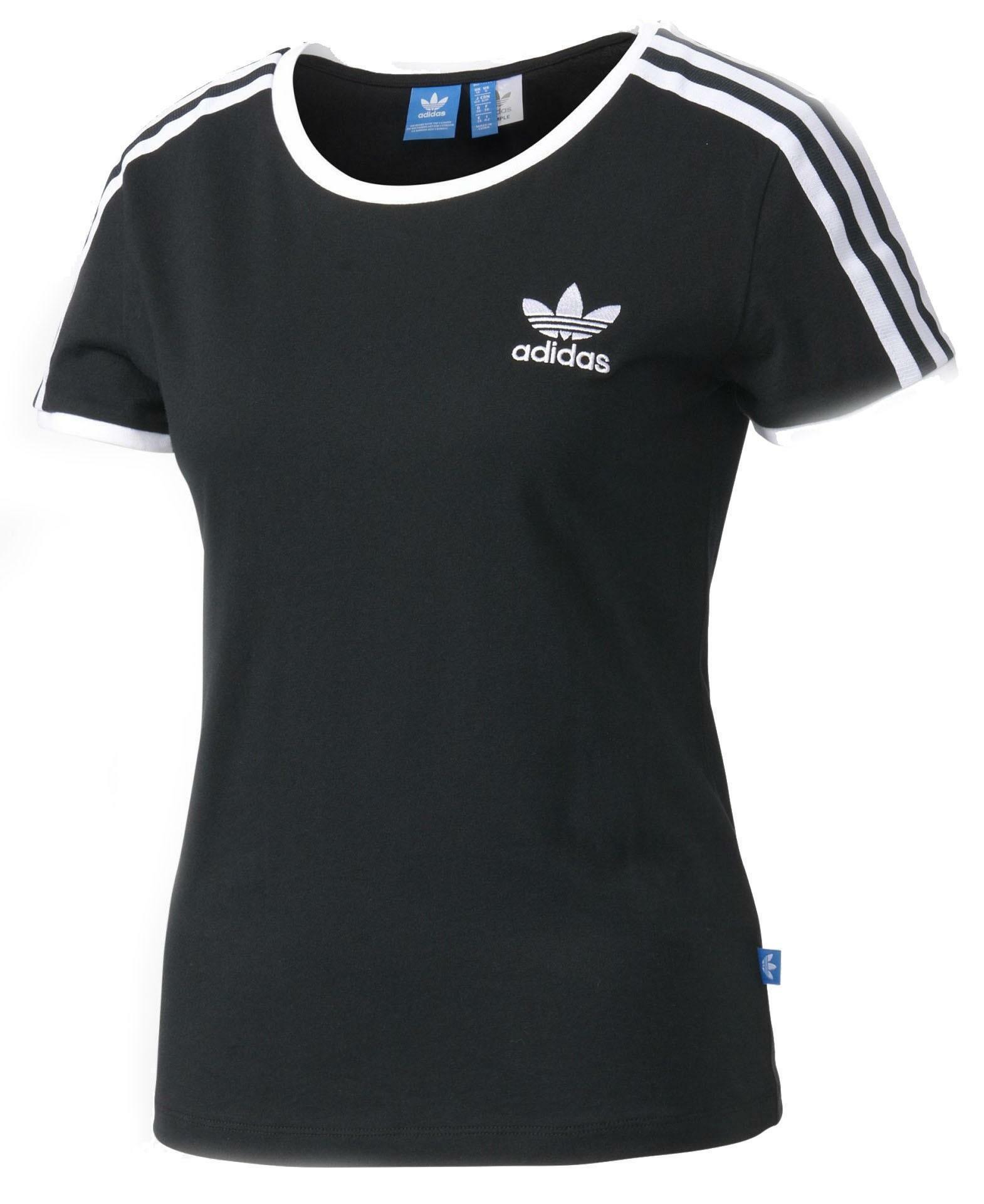 adidas adidas sandra 1977 t-shirt donna nera