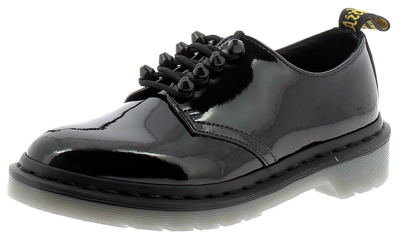 dr. martens dr. martens dr.martens smiths stud scarpe donna nero lucido