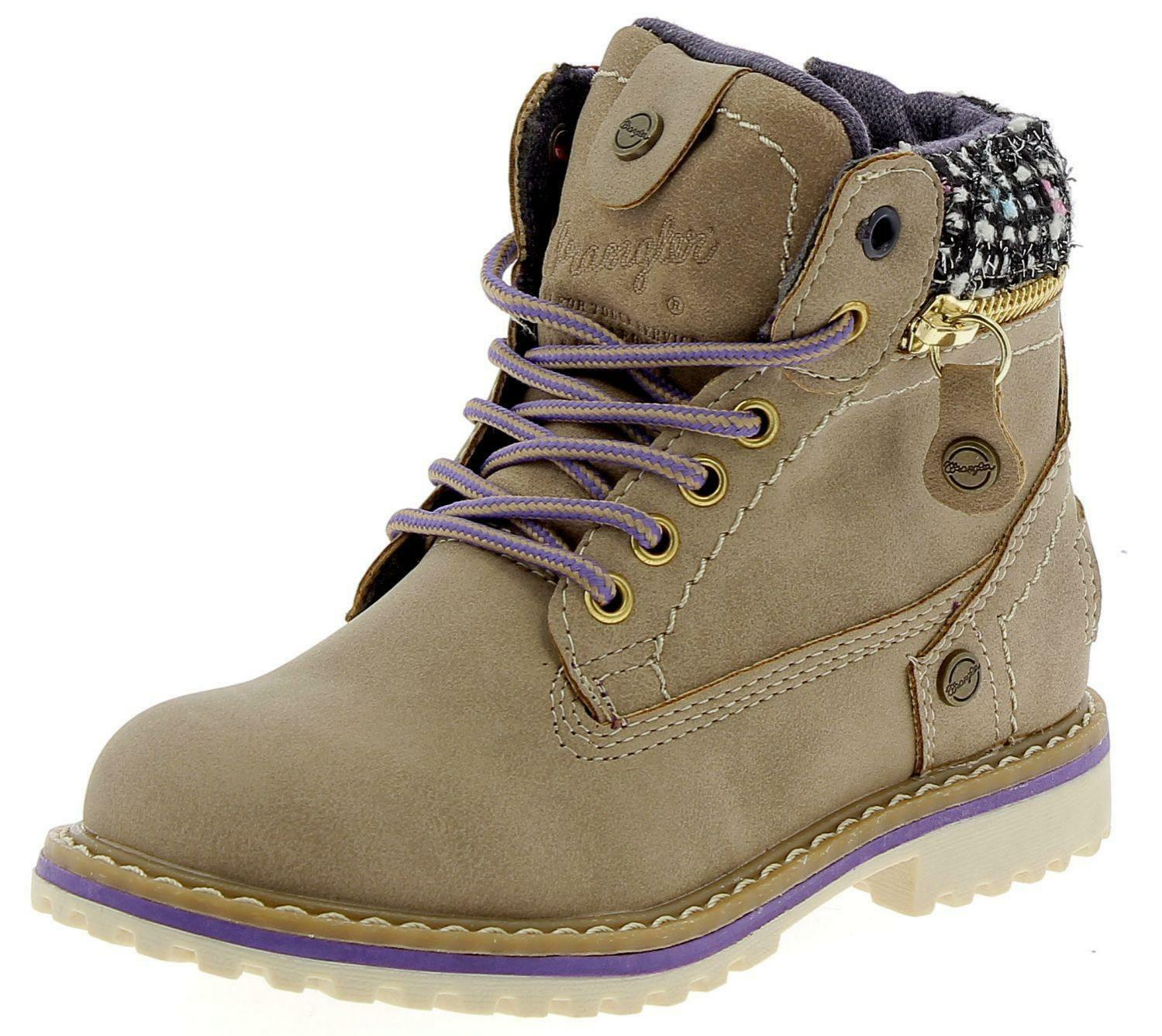wrangler creek zip girl  scarponcini beige