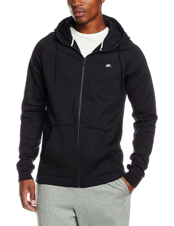 nike nike m nsw modern hoodie giacchetto uomo nero